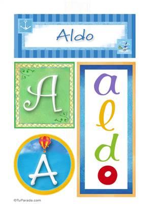 Aldo, nombre, imagen para imprimir