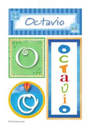 Octavio, nombre, imagen para imprimir