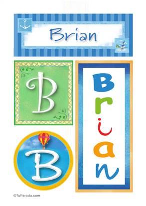 Brian, nombre, imagen para imprimir