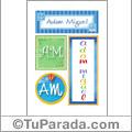 Adam Miguel, nombre, imagen para imprimir