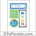 Ryan, nombre, imagen para imprimir