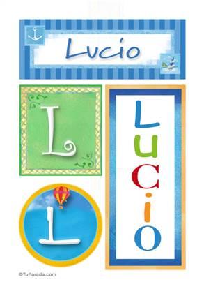 Lucio, nombre, imagen para imprimir
