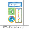 Belfranco, nombre, imagen para imprimir