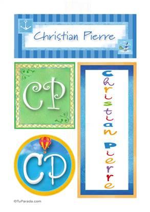Christian Pierre, nombre, imagen para imprimir