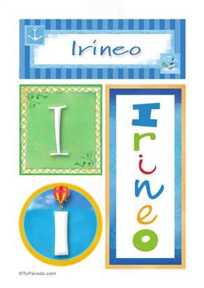 Irineo, nombre, imagen para imprimir