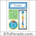 Didier, nombre, imagen para imprimir