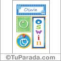 Oswin, nombre, imagen para imprimir