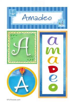 Amadeo, nombre, imagen para imprimir