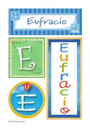 Eufracio, nombre, imagen para imprimir