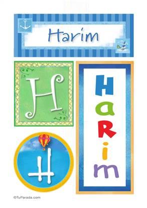 Harim, nombre, imagen para imprimir