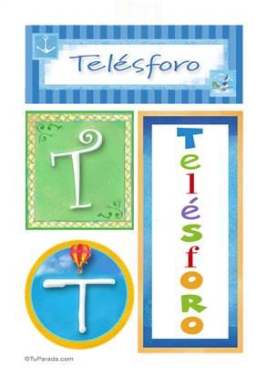 Telésforo, nombre, imagen para imprimir
