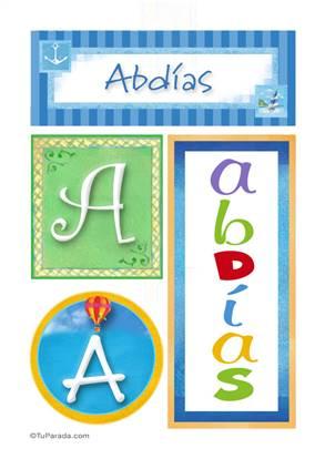 Abdias, nombre, imagen para imprimir