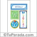 Wilber, nombre, imagen para imprimir