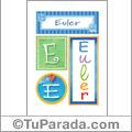 Euler, nombre, imagen para imprimir