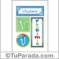 Vladimir, nombre, imagen para imprimir