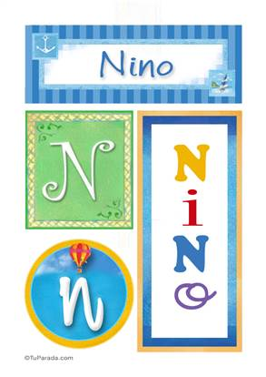 Nino, nombre, imagen para imprimir