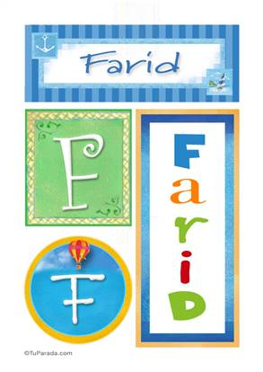 Farid, nombre, imagen para imprimir