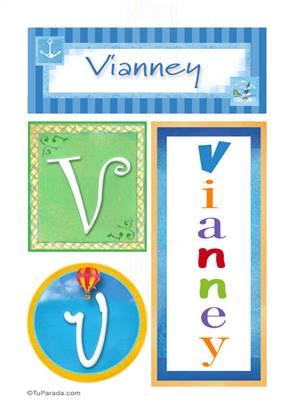 Vianney, nombre, imagen para imprimir