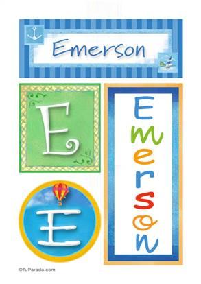 Emerson, nombre, imagen para imprimir