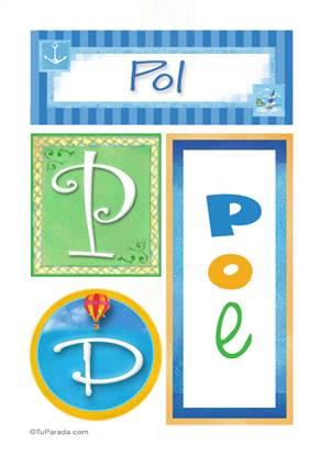 Pol, nombre, imagen para imprimir