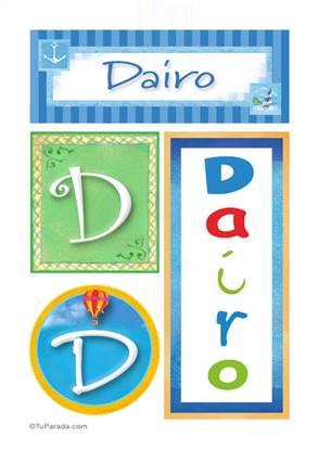 Dairo, nombre, imagen para imprimir