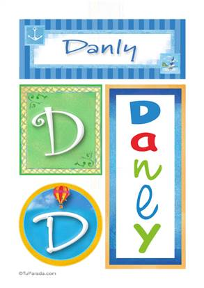 Danly, nombre, imagen para imprimir