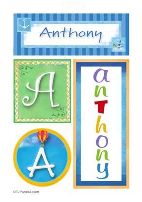 Anthony, nombre, imagen para imprimir