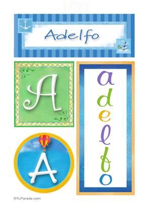 Adelfo, nombre, imagen para imprimir
