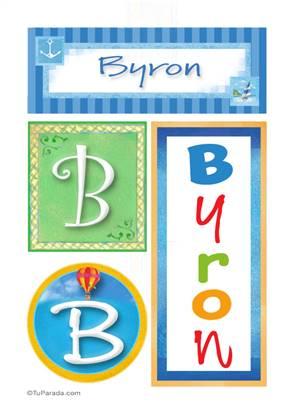 Byron, nombre, imagen para imprimir