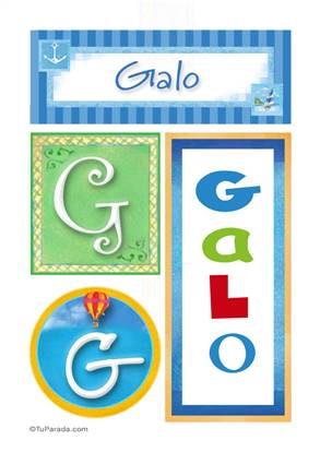 Galo, nombre, imagen para imprimir