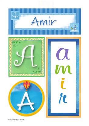 Amir, nombre, imagen para imprimir