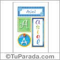 Asiel, nombre, imagen para imprimir
