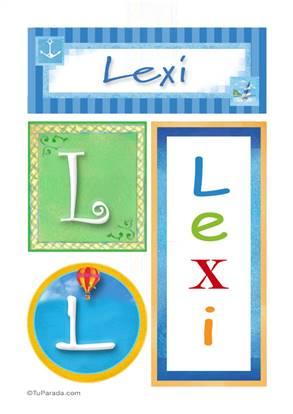 Lexi, nombre, imagen para imprimir