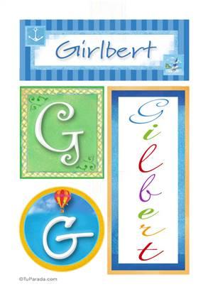 Gilbert, nombre, imagen para imprimir