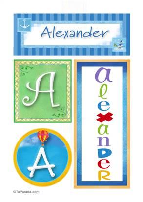 Alexander, nombre, imagen para imprimir