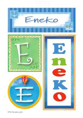 Eneko, nombre, imagen para imprimir