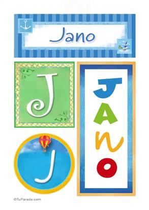 Jano, nombre, imagen para imprimir