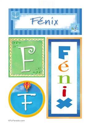 Fénix, nombre, imagen para imprimir