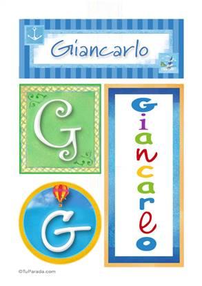 Giancarlo, nombre, imagen para imprimir