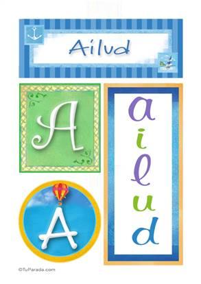 Ailud , nombre, imagen para imprimir