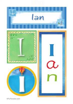 Ian, nombre, imagen para imprimir