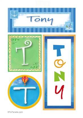 Tony, nombre, imagen para imprimir