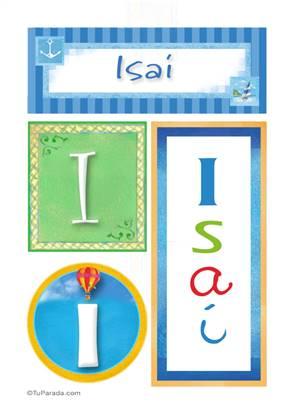 Isaí, nombre, imagen para imprimir