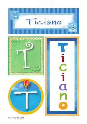 Ticiano, nombre, imagen para imprimir