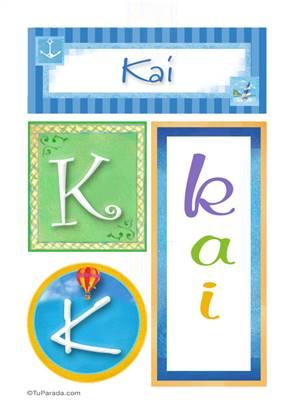Kai, nombre, imagen para imprimir