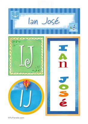 Ian José, nombre, imagen para imprimir