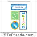 Nathan, nombre, imagen para imprimir