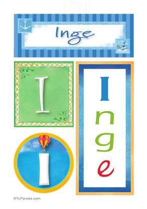 Inge, nombre, imagen para imprimir