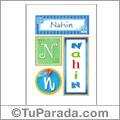 Nahin, nombre, imagen para imprimir