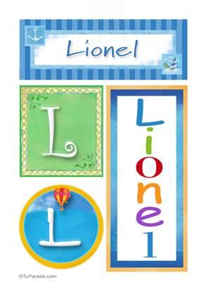 Lionel, nombre, imagen para imprimir